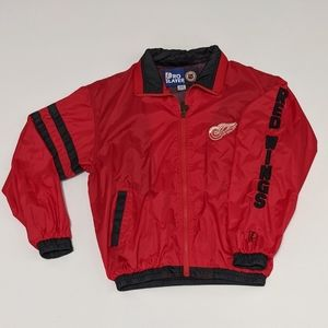90s Vintage Red Wings Pro Player Windbreaker